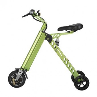 Bicicleta electrica pe 3 roti portabila si pliabila, Tornado ES-18, Putere Motor: 350W, Viteza maxima 20 km/h, Frana de cilindru, Ecran LCD, Culoare: Verde