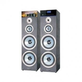 Boxe 2.0, meister Hausgerate, HRH2105H, Putere 160Wx2, Sensibilitate 88dB, Functii USB/SD/FM/BT/AUX In/Telecomanda/Microfon IN, Afisaj LCD cu touch, Culoare Negru