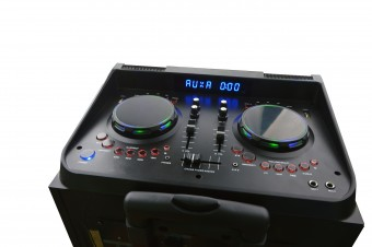 Sistem DJ Mixer Rocky Party, meister Hausgerate, HRH - NX5310, P.M.P.O 35000W, Subwoofer 2 x 12, Karaoke profesionist, Efecte Dj Pro