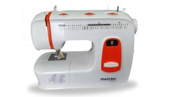 Masina de cusut, meister Hausgerate, HRH310 Orange, 31 de modele de cusaturi incorporate, Viteza 700 rpm, Putere 85W, Design modern si vesel