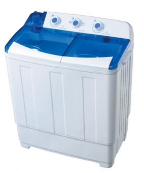 Masina de spalat semi-automata, meister Hausgerate, HRH-8SC, 7kg, 2 cuve, Culoare Alba + Capac Albastru transparent
