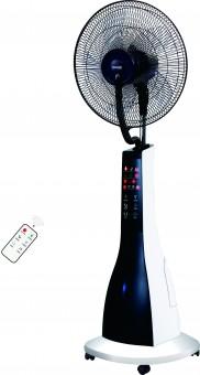 Ventilator cu umidificator 16, meister Hausgerate, HRH1620-R, Functie de umidificare, Silentios, Touch screen, Telecomanda, Culoare: Alb/Negru
